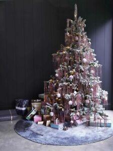 Lametta Rose gold pink Angel Hair tinsel Christmas Tree Decoration Shredded