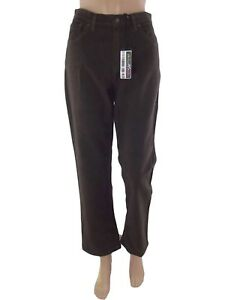 holiday pantalone donna marrone affusolato taglia it 44 w 30 l large