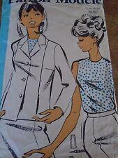 ANCIEN PATRON ECHO DE LA MODE French Pattern 1960 JUPE BLOUSE & VESTE  48