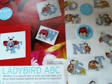 CROSS STITCH CHART LADYBIRD ALPHABET CHARTS LADY BUG LETTERS INSECT ABC