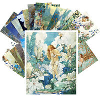 Postcards Pack [24 cards] Fairies Flowers and Small People by Harold Gaze CC1121