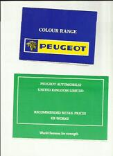 PEUGEOT Range -104, 304, 504, 604 + 404 PICK UP Prezzo/Brochure a colori oct.1976