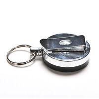 Retractable Pull Keychain Holder Reel Recoil Key Ring Belt Clip NEW BEST Z5N*ss