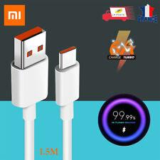 Câble USB-C Charge Rapide USB Type C Original Xiaomi 1.5m Turbo 6A