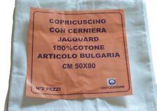 COPPIA FEDERE COPRICUSCINI CON CERNIERA COTONE 50x80 ART. BULGARIA