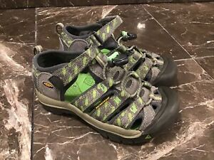 Keen Youth Boys Waterproof Sandals Outdoor Shoe Green,gray Youth 12