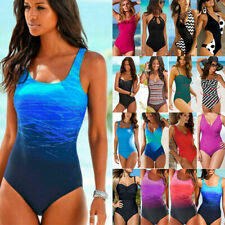 Women Plus Size Monokini Bikini Bathing Suit Beach Swimsuit Swimwear One-Piece