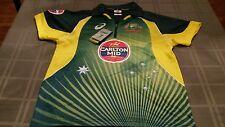 Official Men's ASICS Australian Cricket Team Replica ODI Home Shirt Sz S