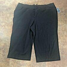 Karen Scott Capri Yoga Pants Size 3X Womens Black Sports Relaxed Capris Plus