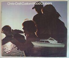 VINTAGE ORIGINAL 1960's CHRIS CRAFT CUSTOM WOOD CRUSIERS CATALOG/BROCHURE