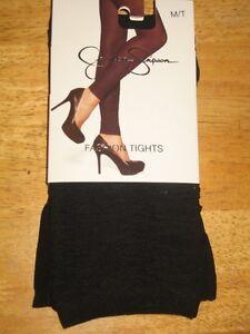 NWT Jessica Simpson Fashion Tights  - Jet Black - Size M/T