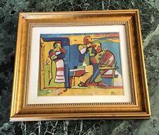 Original Abstract Oil Painting Art Listed Russian Armenian Melik Ghazaryan