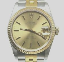 Rolex Tudor Prince OysterDate Vintage 90's SS & Gold Pre-Owned Mens Watch...34mm