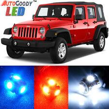 8 x Premium Xenon White LED Lights Interior Package Upgrade for Jeep Wrangler