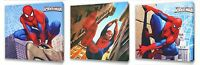 Spiderman Kids canvas wall art plaque pictures set of three pack I