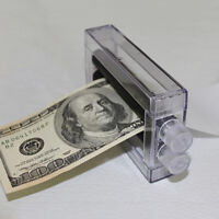 Close-Up Magic Prop Trick Dollar Money Printer Maker Bill Printing Machine Conve