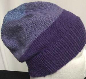 hand-knit 50% aus wool 50% bamboo slouch-beanies 50cm-54cm head sew-ezy-aust