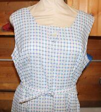 Ladies Vintage 1960s Lady Ashton Cotton Summer Dress with Belt Larger Size
