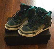 Boys Nike Air Jordan Spizike BG 317321-407 Hi Tops Espace Bleu Taille UK 5.5