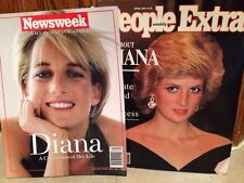 PAIR of Back Issue Magazines - Princess Diana Newsweek/People Extra