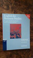 English for Business Studies, Teacher's Book. Cambridge Professional English