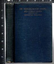 Individualistic Gospel And Other Essays Andrew Gillies Methodist Book C 1919