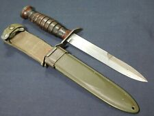 WWII US M3 Trench Fighting Knife Imperial Guard Mrk in M8 Scbd Dagger