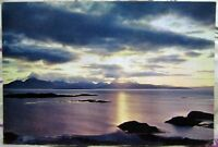 Scotland Sunset over Skye from Kyle of Lochalsh - posted 1970