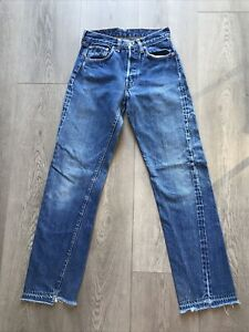 Vtg 60's Levis 501 Selvedge Redline Denim Blue Jeans Big E 28 X 34 1968 to 1970