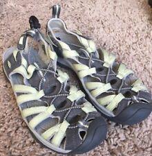Women's Keen Whisper Waterproof Sport Sandals Shoes Mint Green & Grey Wm's 8 US