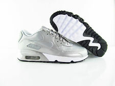 Nike Air Max 90 SE LTR Leather Silver Metallic New Eur 36.5