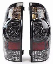 New Black Bezel Led Tail Light PAIR For 2005 2006 2007 2008-2015 Toyota Tacoma