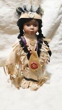 """Duck House Heirloom Native American Indian porcelain doll 18"""""""