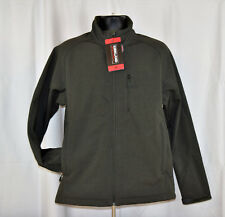 807685279214e Kirkland Signature Men s Full Zip Soft Shell 4 Way Stretch Jacket Olive  Gray M