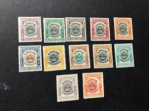 labuan stamps scott 99a-109 mlhog scv 98.50 b468