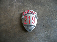 vintage 1950 Sheraton Hotel employee bell hop ID pin badge F
