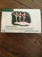 Dept 56 Christmas in the City The Radio City Rockettes #58991 Music Hall Dancers