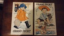 Set of 2 vintage postcards