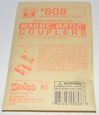 Kadee S scale #808  Dark Brown Magne-Matic Couplers ~ 2 Pair ~ New