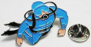 Scuba Diver Pin Badge Underwater Diving Brooch