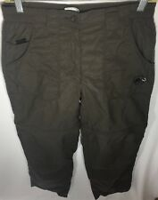 Mammut Outdoor Boys Pants Brown Zip Off Leg Pants / Shorts Sz 38