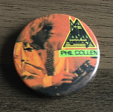 DEF LEPPARD Phil Collen BUTTON BADGE ENGLISH ROCK BAND 80s - ADRENALIZE 25mm