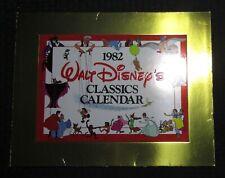 1982 Walt Disney's Classics 12-Month Calendar w/ Envelope Fvf/Vg+