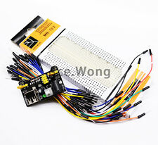 MB102 Power Supply Module + MB-102 830 Point Breadboard + 65pcs Jumper cables