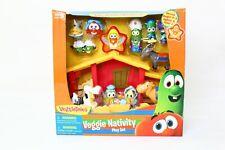 New In Box Veggie Tales Singing Nativity Set Toys Figures Veggie Tales Figurines