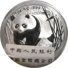 elf China 10 Yuan 2002 Silver  Panda  sealed with COA