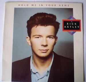 """RICK ASTLEY - LP """"HOLD ME IN YOUR ARMS"""" 1988 - 10 TRACKS - RCA AUSTRALIA"""