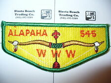OA Alapaha Lodge 545,S-3,1960s Silky HOR Bkgd,WHT String Flap,353,98,Valdosta,GA