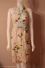 Maeve Anthropologie Dutch Yellow Flowers Racerback Sleeveless Dress size 0