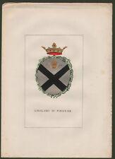 (Toscana) GIROLAMI DI FIRENZE. Grande stemma nobiliare + 4 pagine di testo